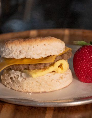 Cheese Sausage Egg Sandwich